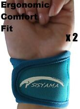 Small Petite Youth TEAL Neoprene Wrist Support Bands Wrap Yoga Tennis Golf