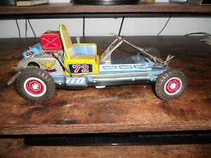 Tin Litho, Nomura Showa Battery Operated Go Kart For Parts Or Rebuild, Works!