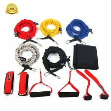 11 in 1 Resistance Band Set Heavy duty Yoga Workout Fitness Exercise Tube Bands