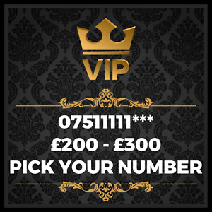 GOLD VIP BUSINESS EASY MEMORABLE EXCLUSIVE PLATINUM MOBILE PHONE NUMBER 07511111
