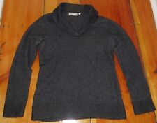 Kenar v neck charcoal gray Sweater nylon / angora / wool sz S