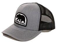 California Republic Trucker Hat Richardson Snapback with Bear Patch