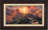 Thomas Kinkade The Cross 18 x 36 LE E/P Canvas (Burl Frame)