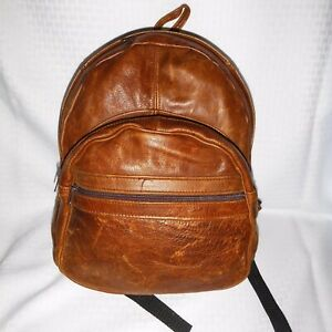 Universal Backpack Purse BROWN Leather MEDIUM SIZE