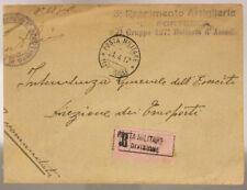 POSTA MILITARE 11^ DIVISIONE 21.4.1917 RACCOMANDATA TIMBRO 3° ARTIGIERIA #XP258Q