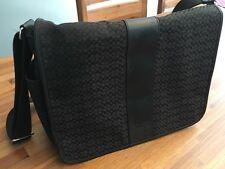Black Coach Signature Canvas Messenger Diaper / Laptop Bag
