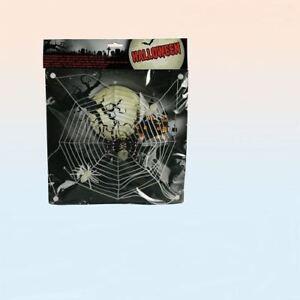 3 Spiders & Web Halloween Party Decor Glow in the Dark Web Cobweb Plastic Kids