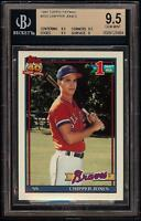 Rare 1991 Topps Tiffany #333 Chipper Jones Rookie RC Card BGS 9.5 Gem Mint HOF