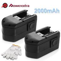 2 x 18V Volt NICd Battery 2000mAh For MILWAUKEE 48-11-2200 48-11-2230 48-11-2232