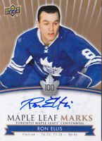 2017 Toronto Maple Leafs Centennial Ron Ellis Auto Marks Autograph 17-18