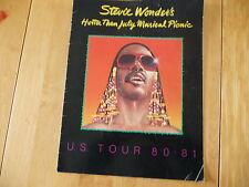 Stevie Wonder's «Hotter than July Musical Picnic» Official Program US Tour80-81