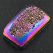 "US-MADE 1 3/8"" TITANIUM DRUZY DRUSY 36x25MM 80.5CT cabochon"
