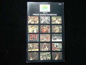 1975-76 Seattle Supersonics NBA Basketball Yearbook