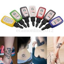 7 Colores/Set 15ml Esterilizada Tinta Tatuaje Pigmento Pintura para Tatuar Tatoo