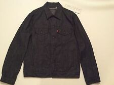 Vintage Levis Black Denim Trucker Jean Jacket Size Large