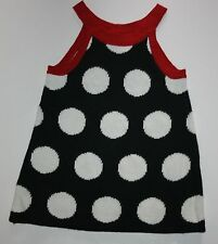 New Gymboree Black Polka Dot Sweater Dress Size 3-6 months NWT Winter Penguin