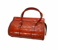 Genuine Leather Handmade Handbag Rigid Leather Tote Structured Duffel Bag 04