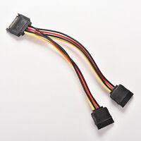 Beliebte 15 Pin SATA Stecker auf SATA Buchse 1: 2 Y Splitter Stromkabel WH