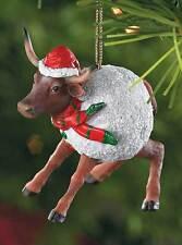 Texas Longhorn in Snowball Ornament