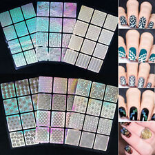 Nail Art Stamp Stencil Stamping Template Plate Set Tool Stamper Design Kit