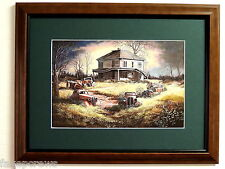 OLD CARS PICTURE FORGOTTEN CLASSICS OLD COUNTRY HOUSE MOPAR MATTED FRAMED 12X16