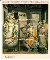 ITALIA ITALY ART 2011 VASARI 500 YEARS ANNIVERSARY SPECIAL GOLD SHEET MNH  RARE!