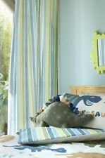"""66"""" by 72"""" Green Striped Lined Pencil Pleat Curtains Dino Dinosaur Range."""