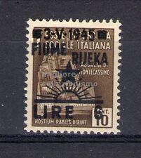 MC 1945 Occupazione Jugoslava di fiume  6L su 10L MNH**