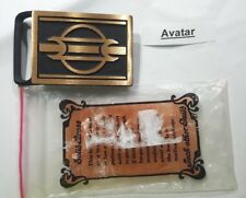 TECH ETHER GUILD AVATAR BELT BUCKLE SOLID BRASS 1979 NEW MADE IN USA