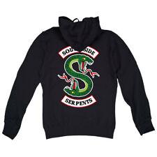 Felpa Cappuccio Riverdale Serpents Southside Jughead Jones FRONTE-RETRO Serie Tv