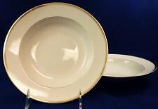 Rosenthal Princess 2 Rim Soup Bowls cream with gold trim & verge 1411 Light Use