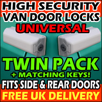 MILENCO High Security Van Locks Rear Doors and Sliding Side Loading Door = PAIR