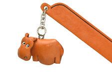 Hippopotamus Leather Charm Bookmarker *VANCA* Made in Japan #61208