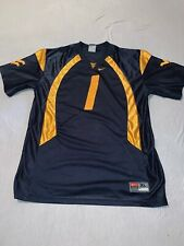 Nike West Virginia mountaineers numbed 1 Jersey kids XL blue and gold