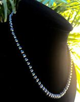 8 mm Elite Shungite Necklace Noble Shungite Bead Necklace Chain Karelia Reiki.