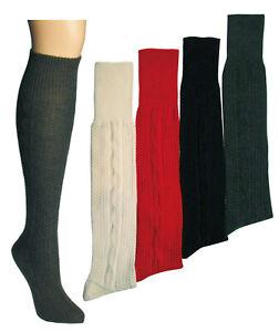 Damen Herren Trachten-Kniebundhosenstrümpfe mit Wolle, uni gemustert