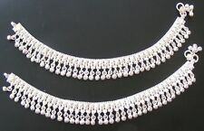 Handmade PURE Silver Anklet Pair Indian Payal