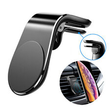 Magnetic Car Phone Holder L Shape Clip Air Vent Mount For Cell Phone GPS Black