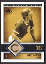 2002 SP Legendary Cuts Game BAT #B-AND Andre Dawson Chicago Cubs