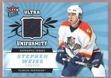 STEPHEN WEISS $12 PANTHERS GAME USED JERSEY PATCH SP 2006-07 UD ULTRA UNIFORMITY