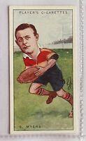 E Myers Bradford Footballers Caricatures 1926 John Player Cigarette Card (B5)