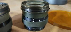 Vintage US Army Telescope Lenses-- Two Included + Large Red & Yellow Filter Lens