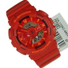 Nuevo * CASIO Mens G Shock Crazy Colores Rojo Naranja Reloj GA110AC-4AER PVP £ 129