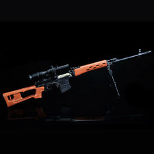 DIY Gun Model Sniper SVD Metal Diecast Army Russian Rifle Assemble 1:4 Scale Toy