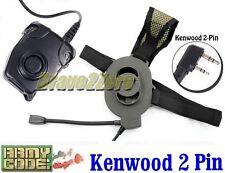 Z Tactical Bowman Elite II Headset w/ Peltor Style PTT for Kenwood Radio