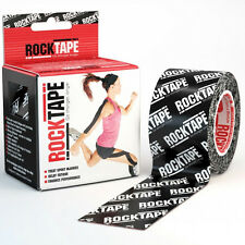 ROCKTAPE (BLACK WITH LOGO) KINESIOLOGY TAPE ROLL FOR SPORTS CROSS TRAINING TAPE