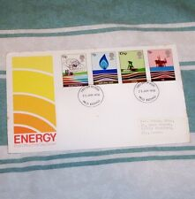 ENERGY 9p 10.5p 11p 13p FDC 25 JAN 1978 MLO REDHILL FDI SHS + INSERT