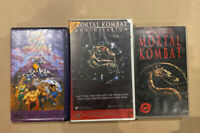 Mortal Kombat Bulk Lot Of 3 Rare Vhs Ex Rental