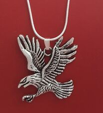 Eagle Necklace Charm Pendant and silver plated chain 18inch 45cm sea hawk