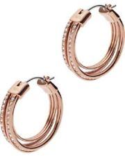 Emporio Armani EGS2196221 Logo Glitz Rose Gold Tone Ladies  Hoops Earrings